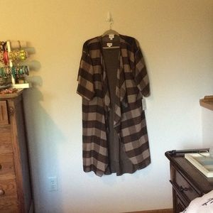 Lularoe Brown plaid Shirley